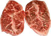 Raw Beef Steak Isolation — Stock Photo