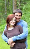 Happy Young Couple In Love — Fotografia Stock