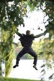 Funny jump — Stock Photo