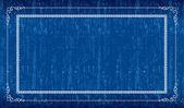 Blå grunge ram — Stockvektor