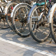 Parked bicycles — Stock Photo #12078901