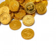 A pile of golden coins — Stockfoto