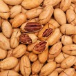 Pecan background — Stock Photo