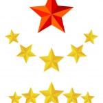 Five star service — Stock Vector