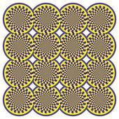 Illusione ottica centrifuga — Vettoriale Stock