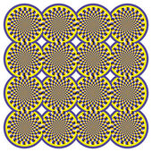 Optical illusion Spin Cycle — Cтоковый вектор