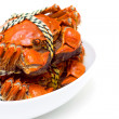 Steamed Chinese Lake Crab - Stock Photo