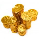 一堆的金币 — 图库照片
