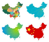 Vector China map set — Stock Vector