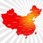 Vector China map — Stock Vector
