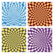 Vector Optical illusion Spin Cycle set - Stock Vector