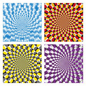 Vector Optical illusion Spin Cycle set — Stock Vector