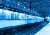 Metro train motion blur — Stock Photo