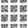 QR code about 2014 year — Stock Vector