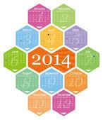 Vector 2014 calendar — Stockvector