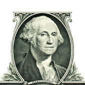George Washington on one dollar — Stock Photo