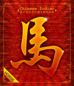 Chinese Zodiac - Year of the Horse in 2014 — ストックベクタ