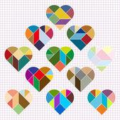 Vector Heart Puzzle — Stock Vector