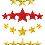 Vector Five golden stars — Stock Vector #40395857