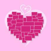 Moldura de coração — Foto Stock