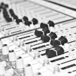 Stock Photo: Control panel of audio equipment