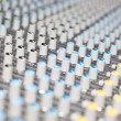 Control knob on the mixing board — Stock Photo