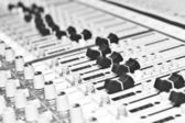 Control panel of audio equipment — Stock Photo