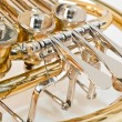 French horn closeup — Stock Photo