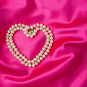 Heart of pearl — Stock Photo