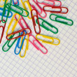 colored paper clips — Stock Photo