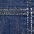 Seam on denim — Stock Photo