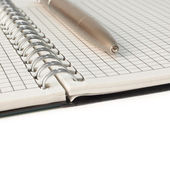 A notebook with a pen — Stockfoto