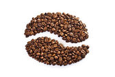Coffee bean made up of a set of grains — Stock Photo