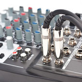The control panel of audio equipment — Stock Photo