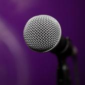 Microphone closeup — Stock Photo