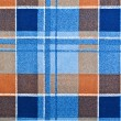 Stock Photo: Plaid blue fabric