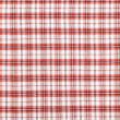 Plaid red fabric — Stock Photo