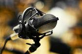 Mikrofon-closeup — Stockfoto