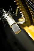Microphone closeup — Stock Photo