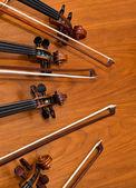 Fragment of violin fingerboard — Foto de Stock