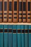 Books on a bookshelf — Stock Photo