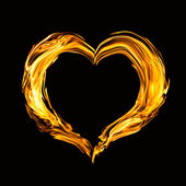 Heart of fire — Stock Photo