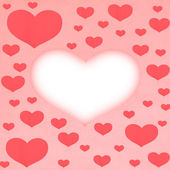 Red Paper hearts — Stock Photo