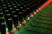 Detail of a mixing console — Stock Photo