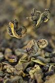 Green tea closeup — Stock Photo