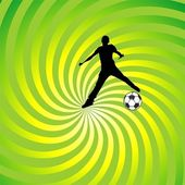 Grunge background with soccer — Stock Vector