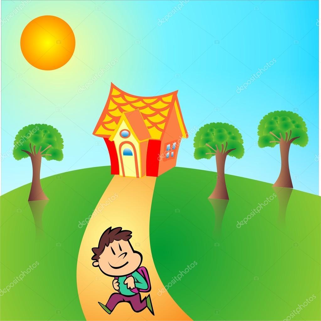 Return home from school — Stock Vector © muge35 #13711285