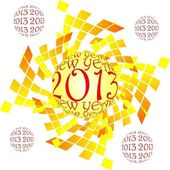 Happy new year 2013 — Vettoriale Stock