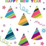 Happy new year, — Stock Vector