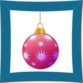 Červená vánoční koule — Stock vektor